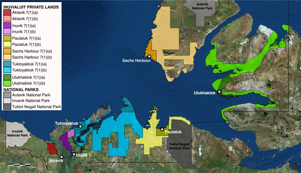 Inuvialuit Private Lands Map